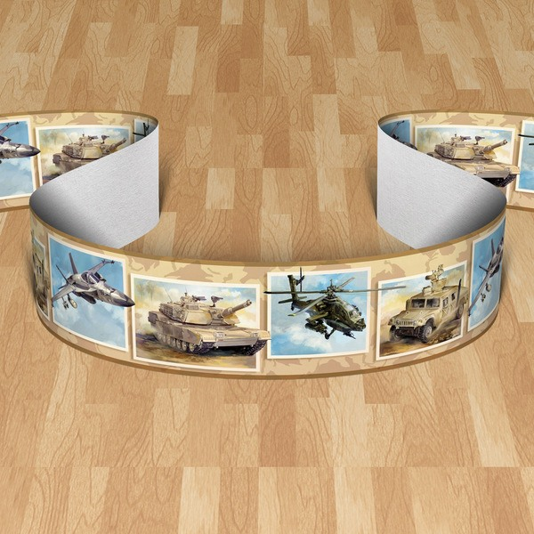 Stickers for Kids: Wall border Tanks