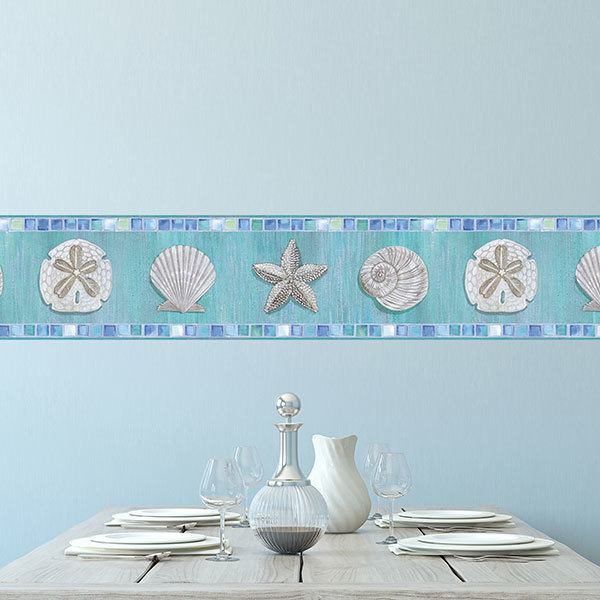 Wall Stickers: Wall border seashells