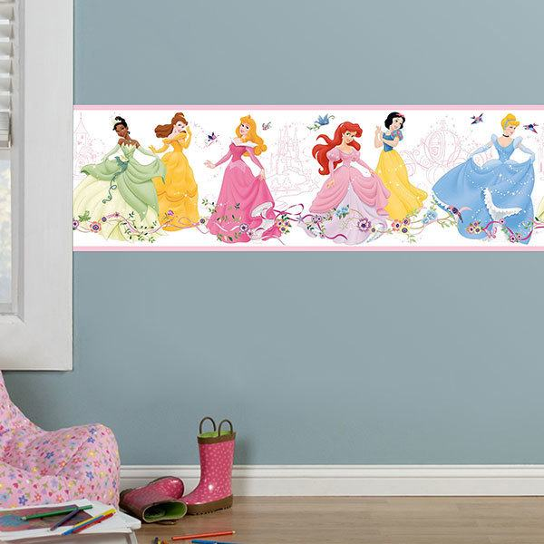 Stickers for Kids: Wall border Disney Princesses dancing