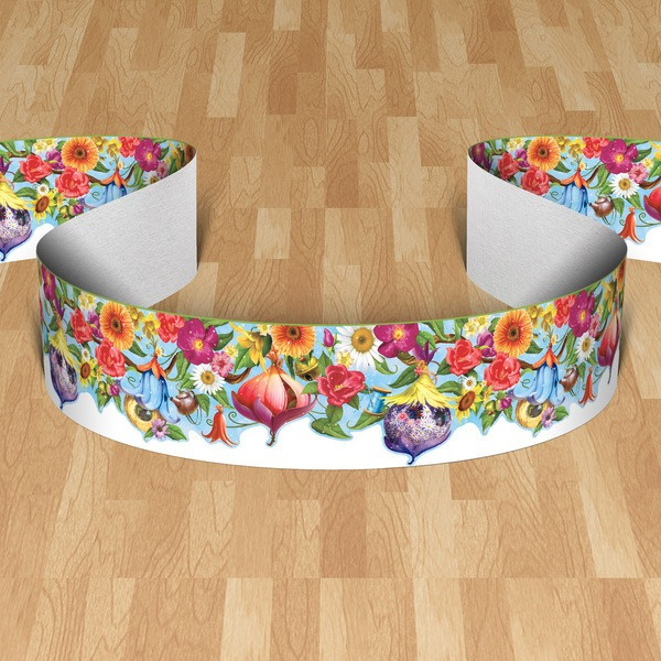 Wall Stickers:  Wall border wild flowers