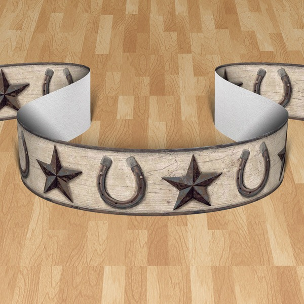 Wall Stickers: Wall border stars and horseshoes