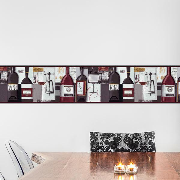 Wall Stickers: Wall border wine