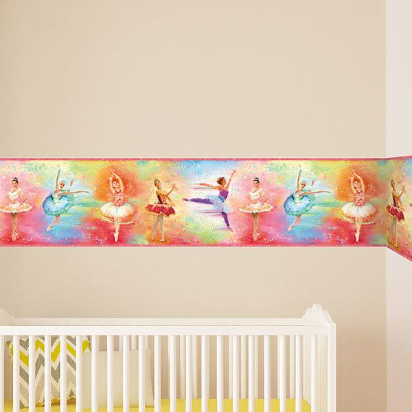 Stickers for Kids: Wall Border Ballet