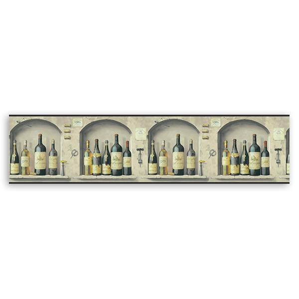 Wall Stickers: Wall Border Wine bottles