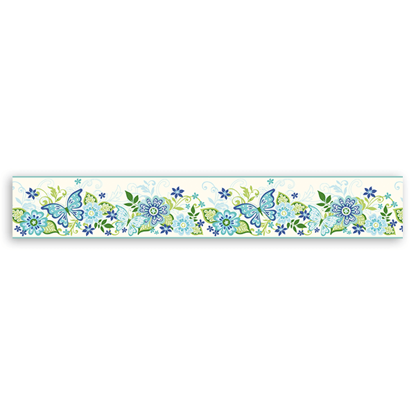 Wall Stickers: Wall Border Flowers and Butterflies