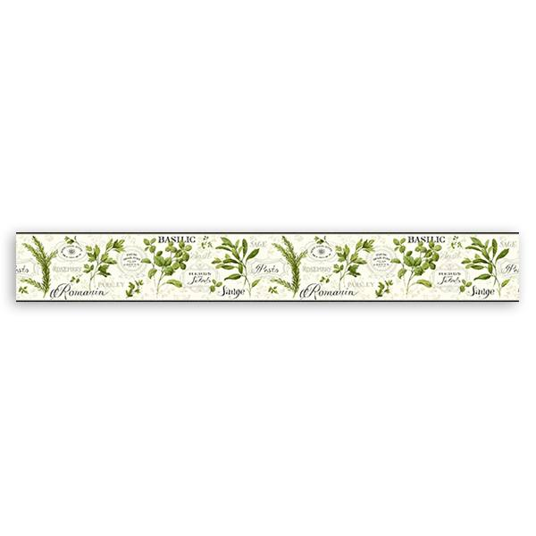 Wall Stickers: Wall Border culinary herbs