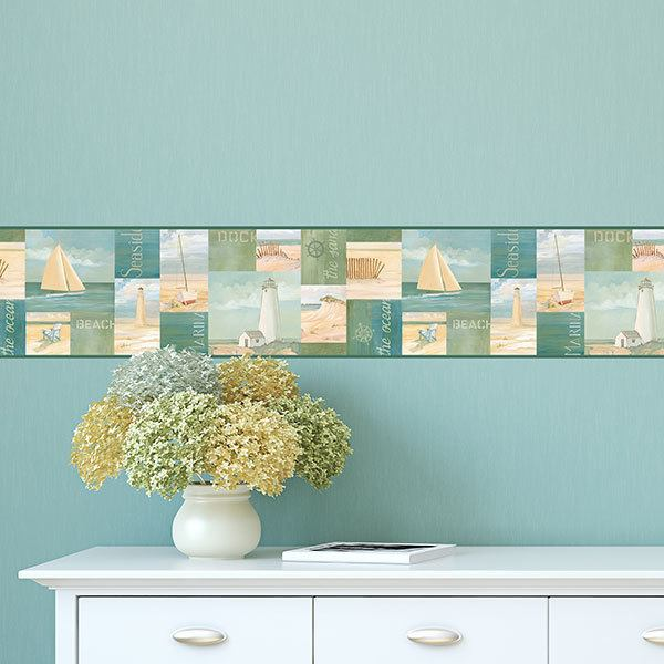 Wall Stickers: Wall Border sea and summer