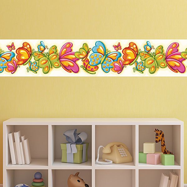 Stickers for Kids: Wall border for baby room butterflies