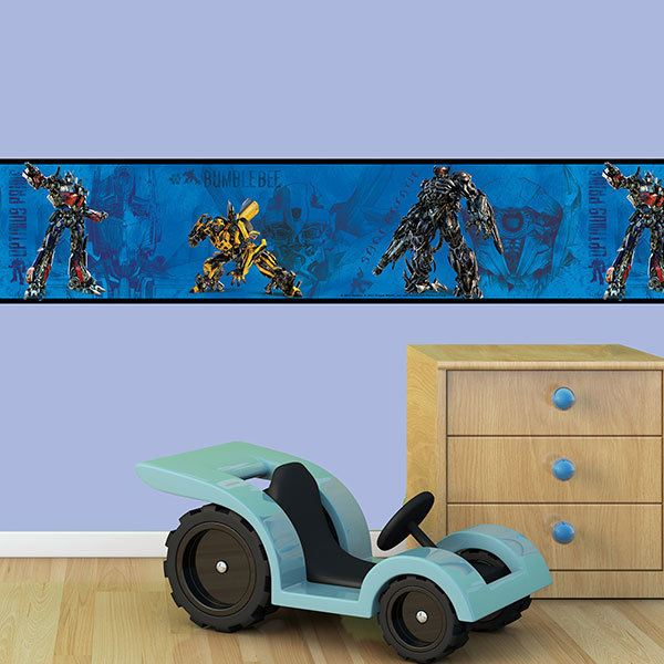 Stickers for Kids: Wall Border Transformers