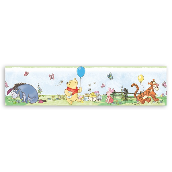 Stickers for Kids: Wall border for children's bethroom Winnie the Poo