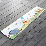 Stickers for Kids: Wall border for children's bethroom Winnie the Poo 3