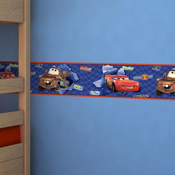Stickers for Kids: Wall Border McQueen & Tow Mater (Cars)