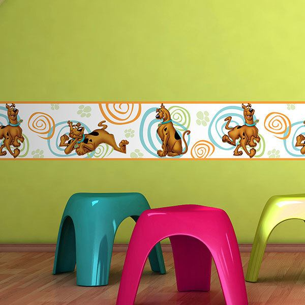 Stickers for Kids: Wall Border Scooby-Doo
