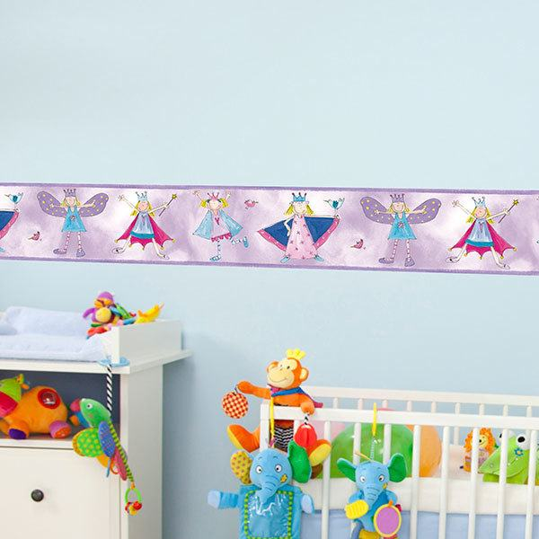 Stickers for Kids: Wall Border Little princess