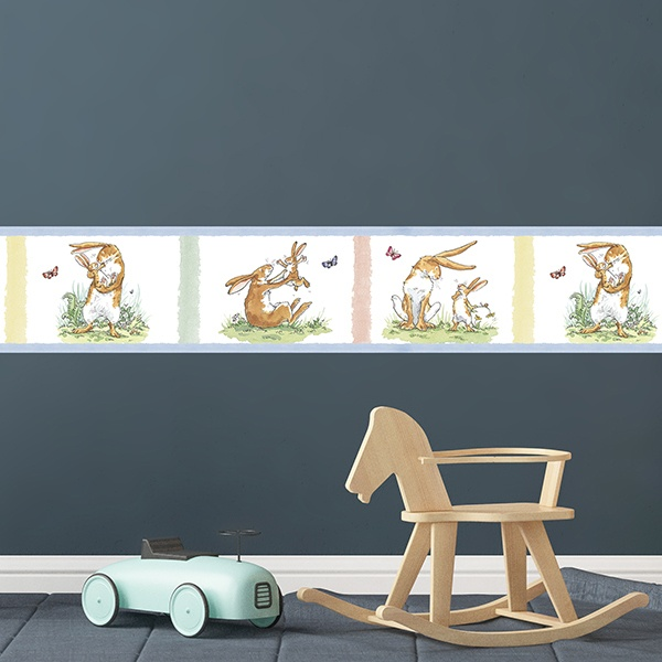 Stickers for Kids: Wall Border Story Rabbits