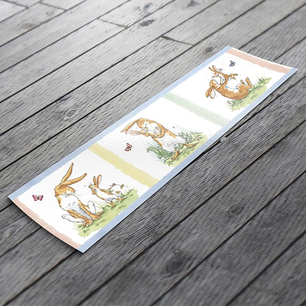 Stickers for Kids: Wall border for children's bethroom Story Rabbits