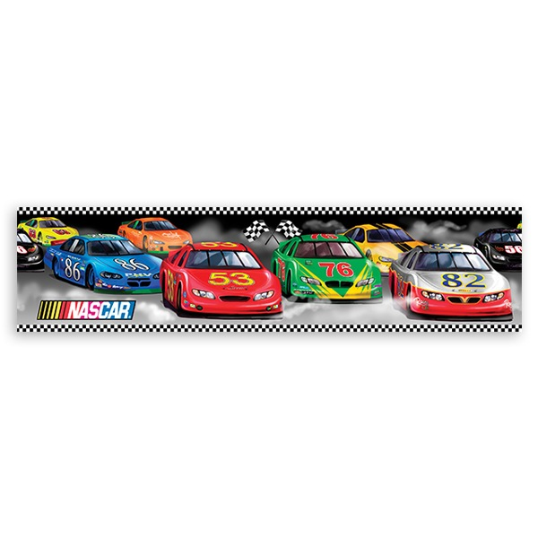 Stickers for Kids: Wall Border Nascar