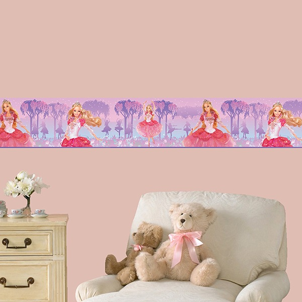 Stickers for Kids: Wall Border Barbie Princess