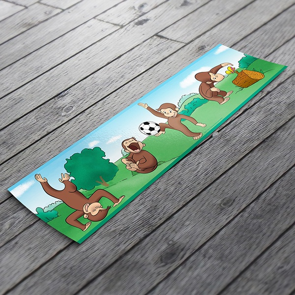 Stickers for Kids: Wall Border Curious George