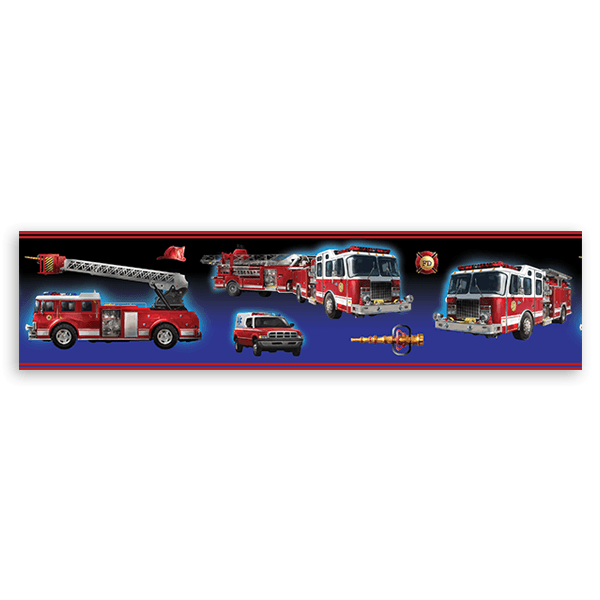 Stickers for Kids: Wall Border Firefighters