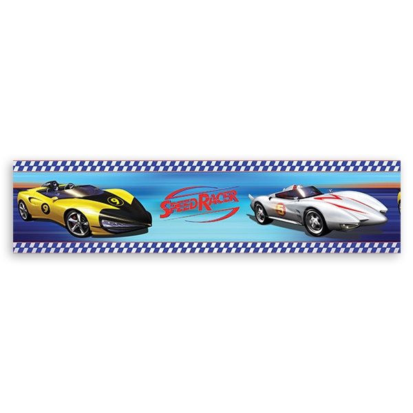 Stickers for Kids: Wall Border Speed Racer