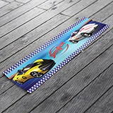Stickers for Kids: Wall Border Speed Racer 3