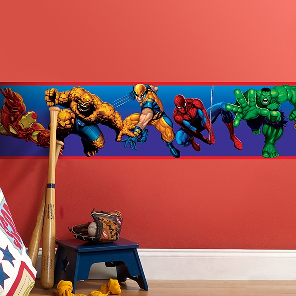 Stickers for Kids: Wall Border Marvel Heroes