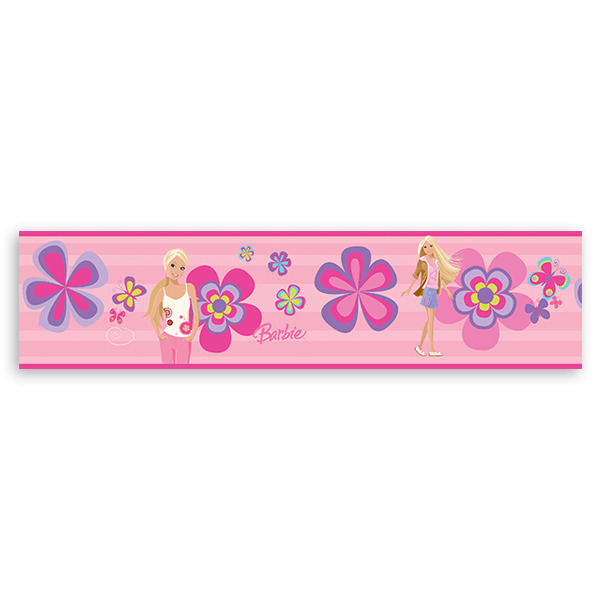 Stickers for Kids: Wall Border Barbie Spring