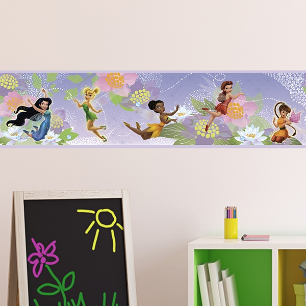 Stickers for Kids: Wall Border Tinker Bell and the fairies