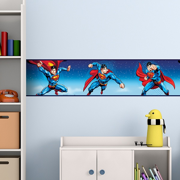 Stickers for Kids: Wall Border SuperMan