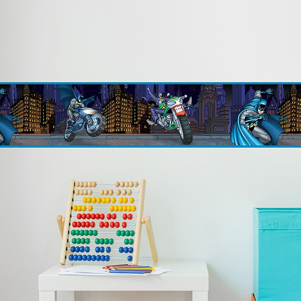 Stickers for Kids: Wall Border Batman and Joker
