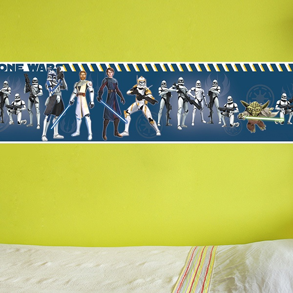Stickers for Kids: Wall Border Clone Wars