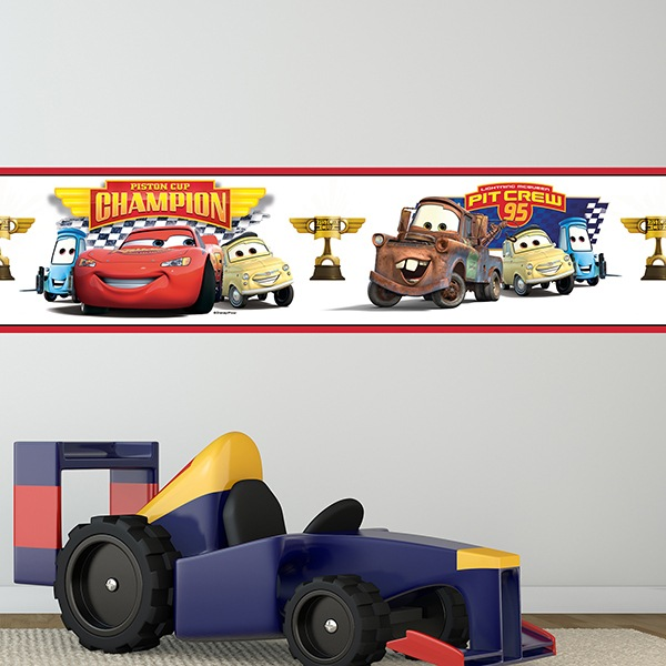 Stickers for Kids: Wall Border Cars - Piston Cup