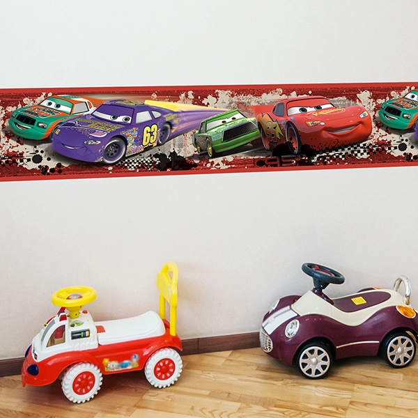 Stickers for Kids: Wall Border Cars Nascar