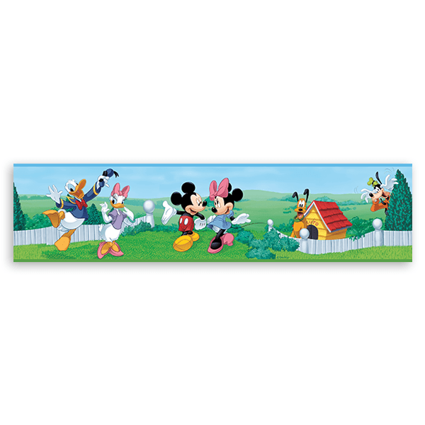 Stickers for Kids: Wall Border Mickey and his friends
