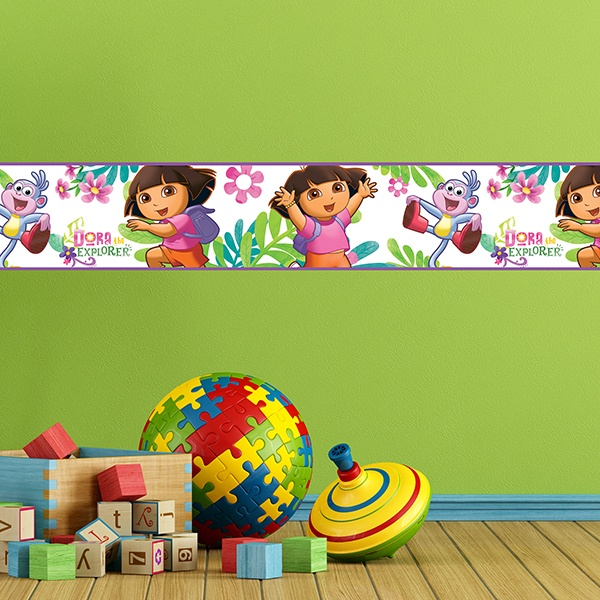 Stickers for Kids: Wall Border Dora the Explorer
