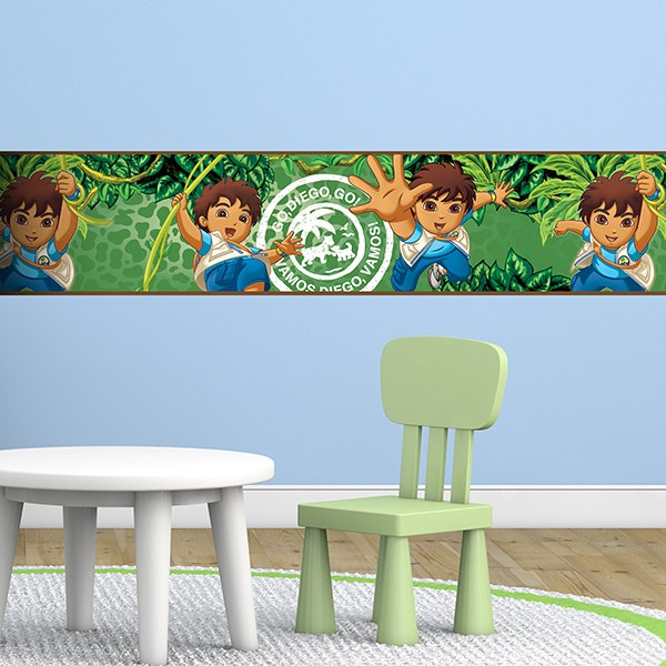 Stickers for Kids: Wall Border Go Diego Go!
