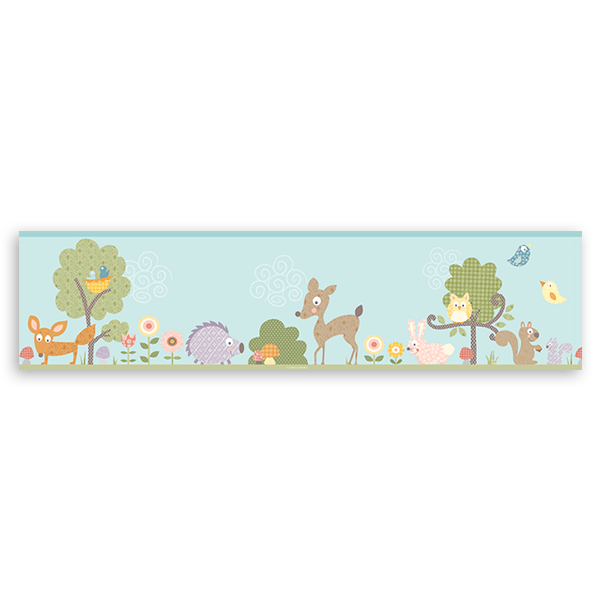 Stickers for Kids: Wall Border Story Animals