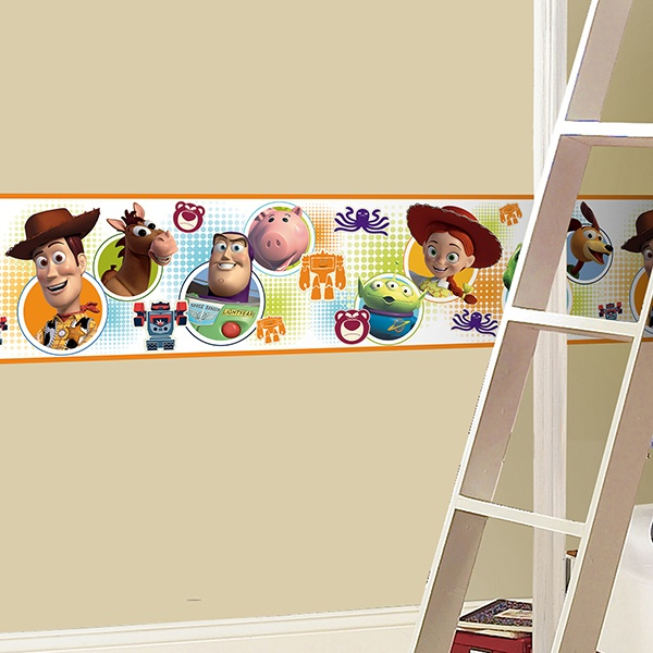 Stickers for Kids: Wall Border Toy Story