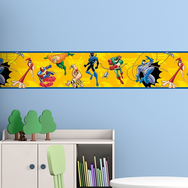 Stickers for Kids: Wall Border Heroes DC comics