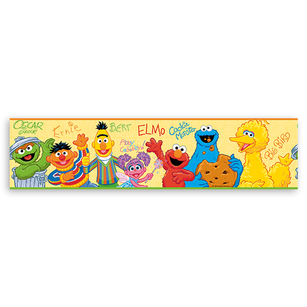 Stickers for Kids: Wall Border Sesame Street
