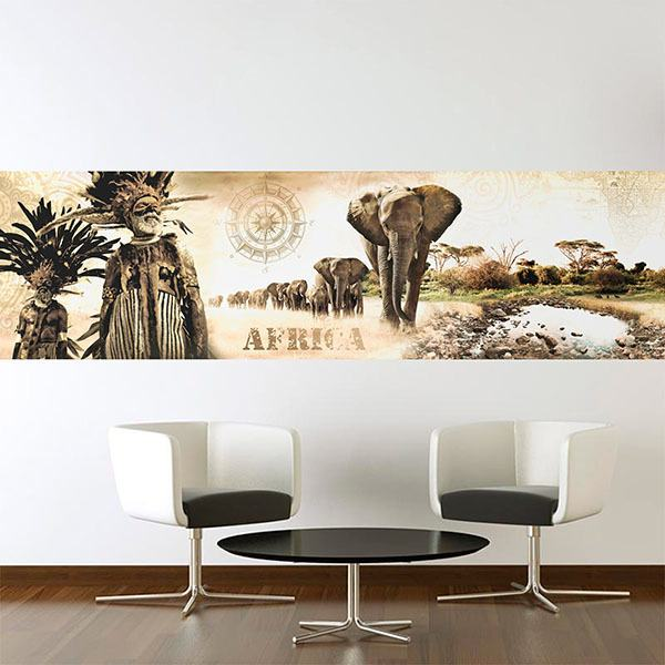 Wall Stickers: African Landscape Collage