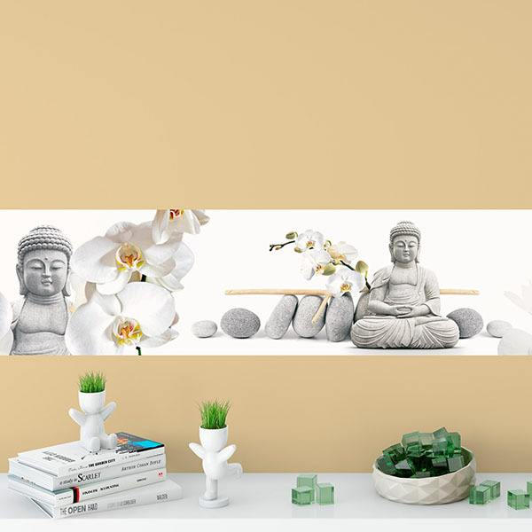 Wall Stickers: Buddha with orchids