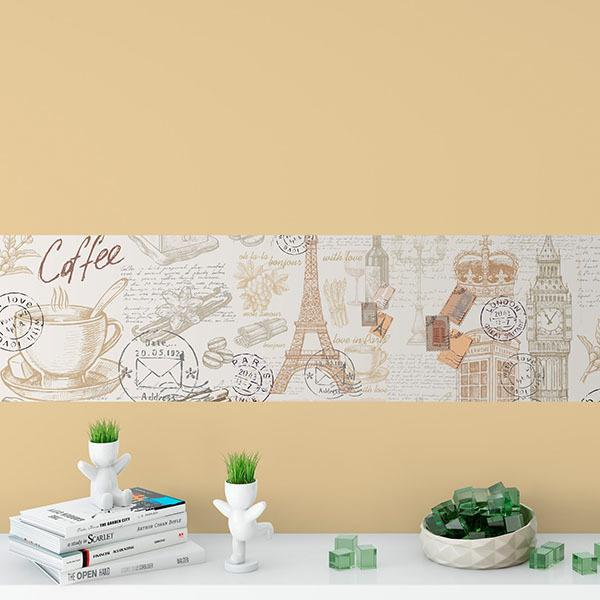 Wall Stickers: Illustration of monuments