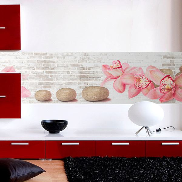 Wall Stickers: Pink Orchids