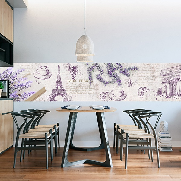 Wall Stickers: Lavender and Paris