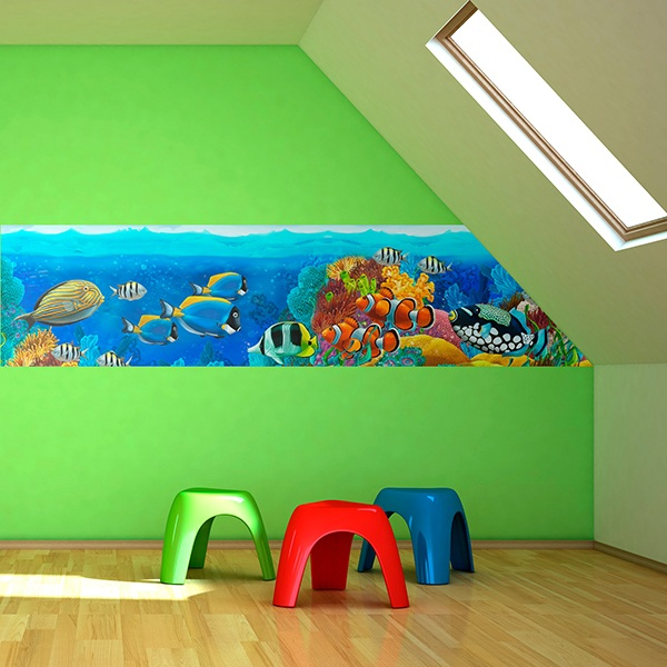 Wall Stickers: Fish at the bottom of the sea