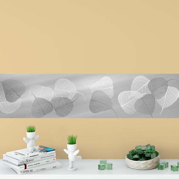 Wall Stickers: Grey leaves