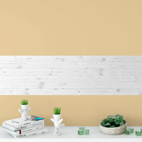 Wall Stickers: White lacquered wood