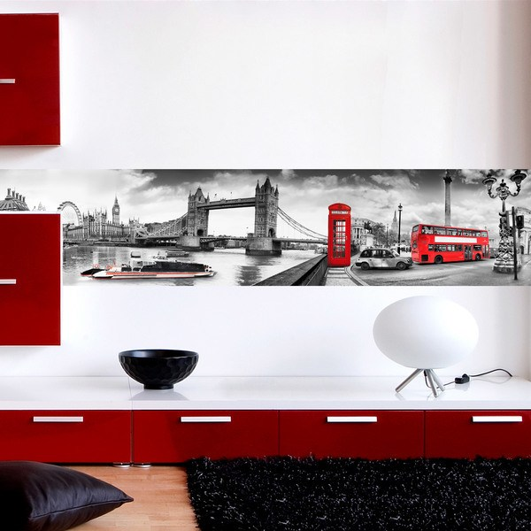 Wall Stickers: London red tones